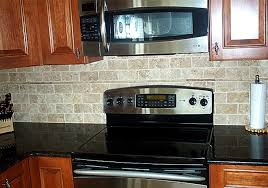 Classic Kitchen Backsplash Faux Brick Backsplash Budget Friendly Painted Brick Backsplash At