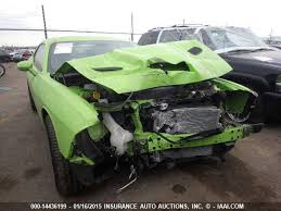 crashed for sale crashed 2015 dodge challenger srt hellcat heading to iaai auction