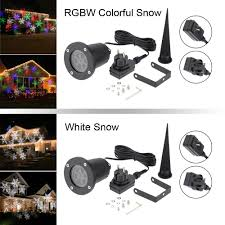 Light Flurries Snowflake Projector by Tomshine 4w 4leds Moving White Snowflake Projector Sales Online
