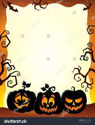 frame halloween pumpkin silhouettes eps10 vector stock vector
