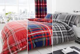 Tartan Flannelette Duvet Cover 9 99 Instead Of 45 01 From U Are Home For A Single Premium