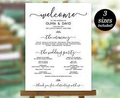 program for wedding wedding program sign template printable wedding program