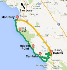 map usa big big sur spectacular itinerary