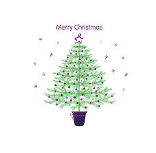 merry christmas tree and stars card bowel cancer uk