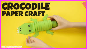paper crocodile craft easy craft for kids youtube