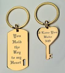 his and hers dog tags gold his and hers couples dog tag and heart key chain set