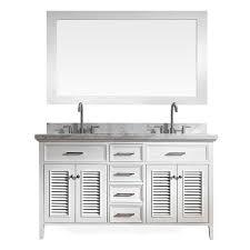 White Double Sink Bathroom Vanities by Shop Ariel Kensington White Undermount Double Sink Bathroom Vanity