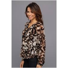 calvin klein blouses calvin klein s printed blouse w piping ooclothstyle