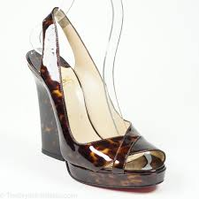 christian louboutin marpoil tortoise patent leather sandal the