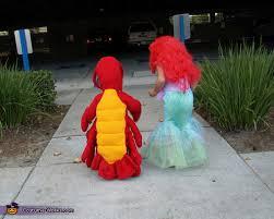Mermaid Toddler Halloween Costume Disney U0027s Mermaid Ariel Sebastian Costumes Kids