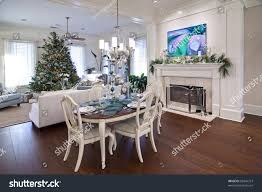 luxury home apartment decorated christmas dinner stock photo luxury home or apartment decorated for christmas dinner