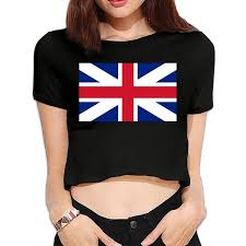 Flag Crop Top Amazon Com Great Britain Flag Union Jack Womens Crop Top