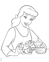 disney princess cinderella coloring pages download free