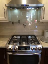 glass tiles for kitchen backsplashes cream glass 4