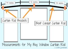 5 Sided Curtain Pole For Bay Window The Secret To Diy Bay Window Curtain Rods From Bay Window