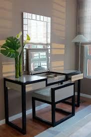 Linon Home Decor Vanity Set With Butterfly Bench Black by Bedroom Black Vanity Table For Elegant Bedroom Furniture Design
