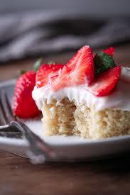 vegan vanilla sheet cake with strawberries wife mama foodie