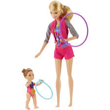 barbie gymnastic coach doll playset walmart