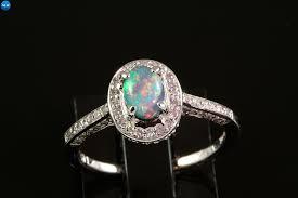 black opal engagement rings 70ct black opal 34ctw diamond ring