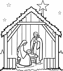 printable coloring pages nativity scenes printable nativity scene coloring pages for kids cool2bkids