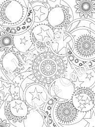 sun moon stars 1 coloring page sun moon u0026 stars