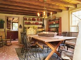 The Dining Room Folk Art In A Reproduction Saltbox Old House Restoration