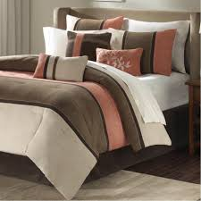 adorable coral bedding sets made of polyester sharp brown coral