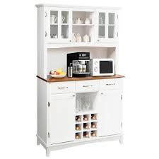 kitchen storage cabinets walmart costway buffet and hutch kitchen storage cabinet cupboard w wine rack drawers white