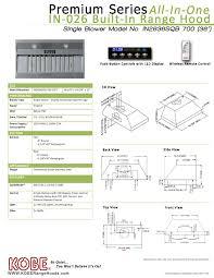 Ventless Hood System Kobe In2630sqb 700 1 U0026 In2636sqb 700 Built Into Cabinet Insert Hoods
