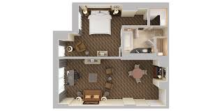 Curio A Collection By Hilton Hollywood Beach Resort 3d Floor Plans Floor Plan 3d Suite