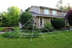 giant 23x18ft triangular spider web outdoor halloween decoration