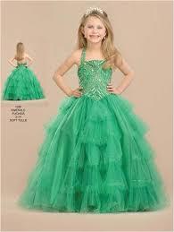 organza tiered halter pageant dress