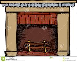 fireplace illustration royalty free stock images image 23390339