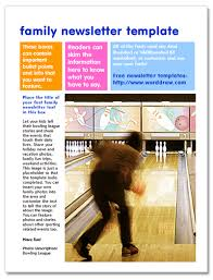 free family newsletter templates for microsoft word from worddraw com