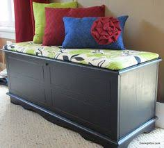 Build A Toy Box Bench Seat by How To Make A Bench Cushion Without Any Sewing Going To Try This