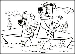 coloring pages of yogi bear yogi bear free colouring pages coloring page in ideas 6