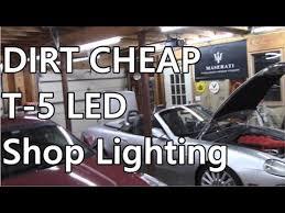 cheap led shop lights cheap led shop lights barrina t5 bright bang for the buck youtube
