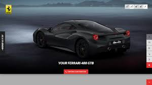 camo ferrari you can now build your own 488gtb on ferrari u0027s configurator
