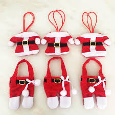 Cheap Christmas Decorations Party by Christmas Articles Santa Suit Christmas Silverware Holder Pockets