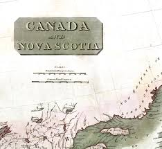 Nova Scotia Canada Map by Canada And Nova Scotia In 1817 Vintage Map Antique Map