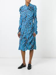marni trellis print midi dress trb44 cobalt women clothing marni