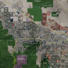 Wall Map Coachella Valley U2013 Aerial Wall Mural Landiscor Real Estate Mapping