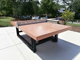how big is a ping pong table concrete ping pong table with steel base and concrete sets