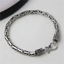 silver rope chain bracelet images Jinse 5mm width male bracelet 925 sterling silver bangles men jpg