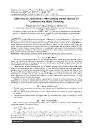 deformation calculation for the existing tunnel induced by undercross u2026
