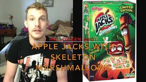 halloween 2016 taste testing apple jacks with skeleton