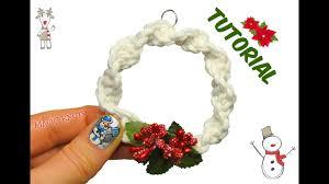 macrame christmas wreath diy youtube