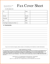 Fill In Fax Cover Sheet by 6 Fax Cover Sheet Medical Financial Statement Form