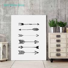 aliexpress com buy arrow art print poster for home decor black
