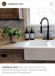 kitchen cabinet sink faucets this farmhouse kitchen sink faucet marble backsplash